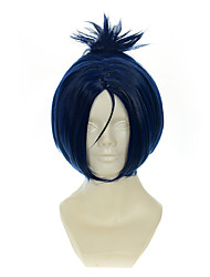 cheap -HITMAN REBORN! Rokudou mukuro Ink Blue Mixed Blue Halloween Wig Synthetic Wig Costume Wigs