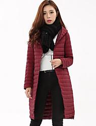 お買い得  -女性用 ストリートファッション ダウン ソリッド