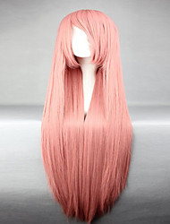cheap -Top Grade Synthetic Vocaloid Luka Popular Smoke Pink Long Straight Cosplay Wigs
