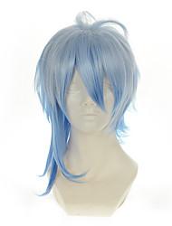 Amnesia Ikki White Mixed Blue Versatile Turned Alice Halloween Wig Synthetic Wig Costume Wigs