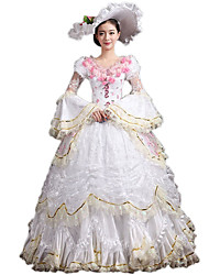 cheap -Victorian Rococo Costume Women's Party Costume Masquerade Vintage Cosplay Lace Cotton Poet Floor Length