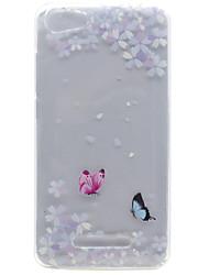 Недорогие -Для wiko lenny 3 lenny 2 бабочка цветок узор высокая проницаемость tpu материал телефон оболочка для wiko lenny 2 lenny 3 pulp fab 4g