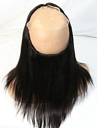 cheap -8A Grade Brazilian Virgin Human Hair 360 Full Around Lace Frontal Closure Straight with Natural Hairline
