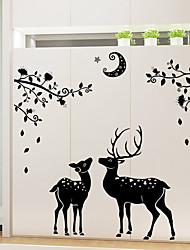 cheap -Animals Still Life Holiday Wall Stickers Plane Wall Stickers Mirror Wall Stickers Decorative Wall Stickers Home Decoration Wall Decal