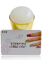1pcs nouveau silicone ongle art tampon ensembles jumbo jelly spongieux vernis diy tampon racleurs pochoirs outils de manucure y_nd215