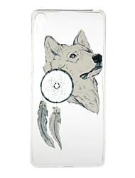 Per Sony Ericsson xperia xa e5 modello bianco lupo ad alta permeabilità tpu cassa del telefono cellulare