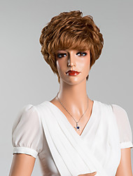 cheap -Human Hair Capless Wigs Human Hair Curly With Bangs Short Wig Women's