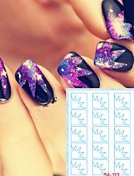 Недорогие -5 Стикер искусства ногтя Штампованных Маникюр Трафарет макияж Косметические Nail Art Design