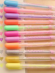 bella principessa caramelle color pastello penna bambina (una scatola di 12)