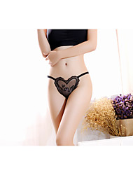 cheap -Sexy Lady Lace Love Women Panties 2016 New Transparent Tied Briefs 4 Colour For Choose Lady G-string
