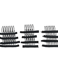 cheap -20pcs lot wig making combs and clips for wig cap black color wholesale wig accessories
