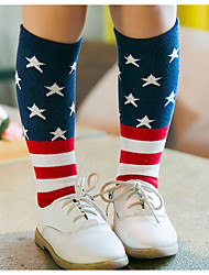 Girls' Casual/Daily Striped Underwear & Socks-Cotton-Fall Cartoon