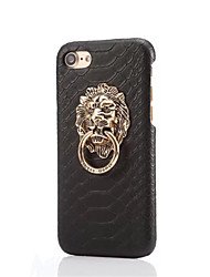 Snakeskin Grain Lion A Protective Metal Stents for iPhone 7 7 Plus 6s 6 Plus SE 5s 5