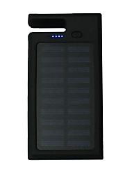 banca di potere della batteria esterna 5V 1.0A #A Caricabatteria Torcia Multiuscita Ricarica ad energia solare Supporto incluso LED