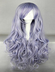 cheap -Beautiful Long Curly Wavy Heat Resistant Soft Rozen Maiden Cosplay Wigs Grey Costume Wig