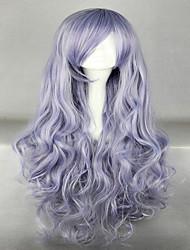 Beautiful Long Curly Wavy Heat Resistant Soft Rozen Maiden Cosplay Wigs Grey Costume Wig