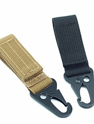 cheap -High Stength Nylon Carabiner Lock Military keychain Hook Webbing Molle Buckle Outdoor Handing Belt Clip Buckle 1pc