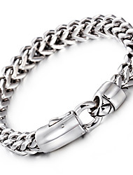 cheap -Kalen® New Fashion Link Chain Bracelet 316L Stainless Steel Jewelry High Polished Hand Chain  Men's Accessory Gift