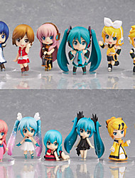 economico -Figure Anime Azione Ispirato da Vocaloid Hatsune Miku PVC 6.5 CM Giocattoli di modello Bambola giocattolo
