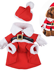 Dog Costume Dog Clothes Cute Cosplay Christmas Cartoon Red