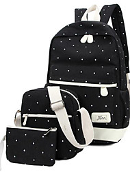 Women Backpack Canvas Casual Black Ruby Blue