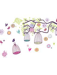 Animali / Cartoni animati / Paesaggio Adesivi murali Adesivi aereo da parete Adesivi decorativi da parete,PVC MaterialeLavabile /
