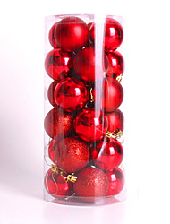 cheap -Modern Christmas Tree Xmas Balls Decorations Baubles Party Wedding Ornament 24Pcs 4Cm
