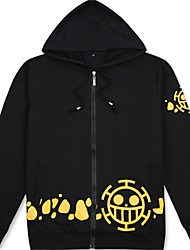 Abiti Cosplay Ispirato da One Piece Trafalgar Law Anime Accessori Cosplay Maglietta Nero Cotone unisex