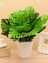 cheap -12 Heads/Bouquet Silk Monstera  Fake Plant Household Decorations Plant Wall