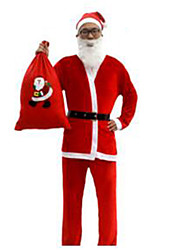 Male Christmas Festival/Holiday Halloween Costumes Red Solid