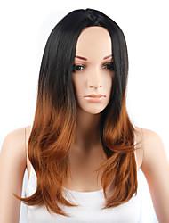 Ženy Medium Auburn Rovné Umělé vlasy Bez krytky Přírodní paruka Paruka Halloween Karnevalová paruka paruky