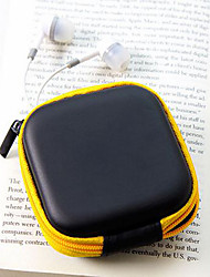cheap -Travel Leather Material Headphones Change Purses