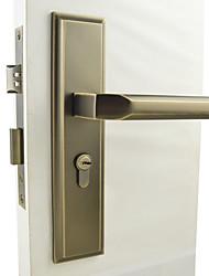 economico -antico serratura in ottone, blocco della leva, leverset, Leva porta con 3 chiavi
