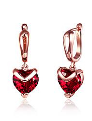 Недорогие -Жен. Сердце Цирконий Циркон Серьги-слезки - Классический Мода Сердце Назначение Для вечеринок Офис