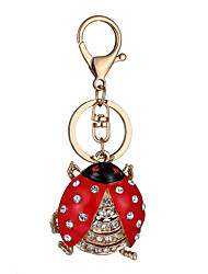 cheap -Keychain Jewelry Red Rhinestone Gold Plated Alloy Personalized Unique Design Animal Design Euramerican Cute Style Fashion Unisex