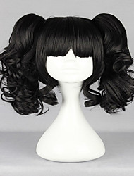 cheap -New Popular Harajuku Lovely Black Curly Ponytails With Full Bangs Fashion Synthetic Girl's Party Cosplay Wigs