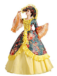 Victorian Rococo Women's One-Piece/Dress Cosplay Lace Cotton Floor Length