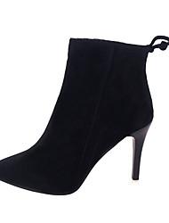 Da donna Stivaletti Comoda Anfibi PU (Poliuretano) Inverno Casual Footing Comoda Anfibi Cerniera A stiletto Nero Grigio 7,5 - 9,5 cm
