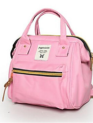 Women Backpack Canvas Casual Red Blushing Pink