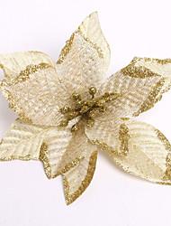 cheap -Merry Christmas! New 13Cm 6 Colors Christmas Flower Decoration Artificial Flowers Xmas Natal Tree Ornament Enfeite De Natal