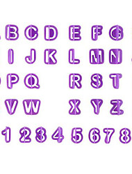 cheap -40Pcs Alphabet Number Letter Fondant Cake Cookie Cutter Pan Mold Biscuit