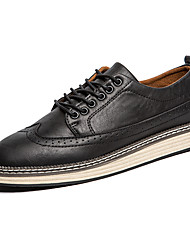 cheap -Men's Oxfords Leather Shoes Formal Wing Tip Brogue Business  Wedding Office Suit Shoes