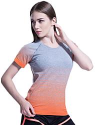 povoljno -Joga T-majica Majice Quick dry Prozračnost Smooth Udobnost Visoka elastičnost Sportska odjeća Yoga Pilates Sposobnost Slobodno vrijeme