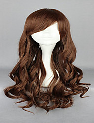 cheap -70cm Light Brown Cosplay Wigs  Lolita Zipper Classical Wavy Long Curly  Costume Party Wig