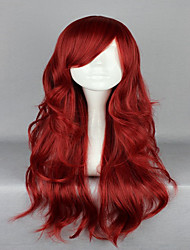 Sexy Lady Wine Red 65cm Long Wavy Curly Lolita Zipper High Grade Cosplay Wigs