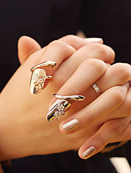 cheap -Fashion Temperament Thumb-nail Ring Gold Nnd Silver Two Color Suits  2Pcs/Set