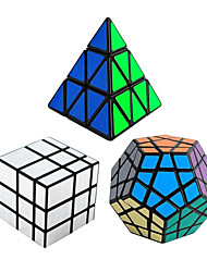 cheap -3Pcs Rubik's Cube Shengshou Smooth Speed Cube Pyraminx Alien Megaminx Mirror Cube Speed Professional Level Magic Cube ABS Tower New Year