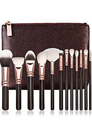 15 Makeup Brushes Set Nylon Hair Professional / Portable Wood Face/Eye / Lip Rose Golden No Logo