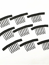 cheap -20 pcs/Lot 7teeth wig accessories wholesale black Hair wig Combs attach caps wig combs insert wig clips Xtrend Hair Products