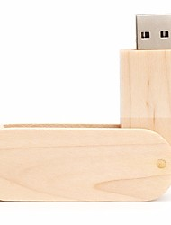 economico -Neutro prodotto Rotating Wood 16GB USB 2.0 Rotante